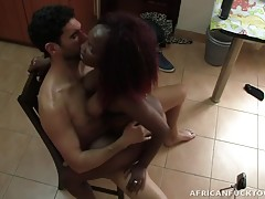 Antonio doesn`t go anywhere without his cameras! Every time he makes a sex tourism trip to Africa, you can be damn sure Antonio is recording every second of his crazy escapades. In this scene, he has thick ebony lady Monique at his service. He catches her